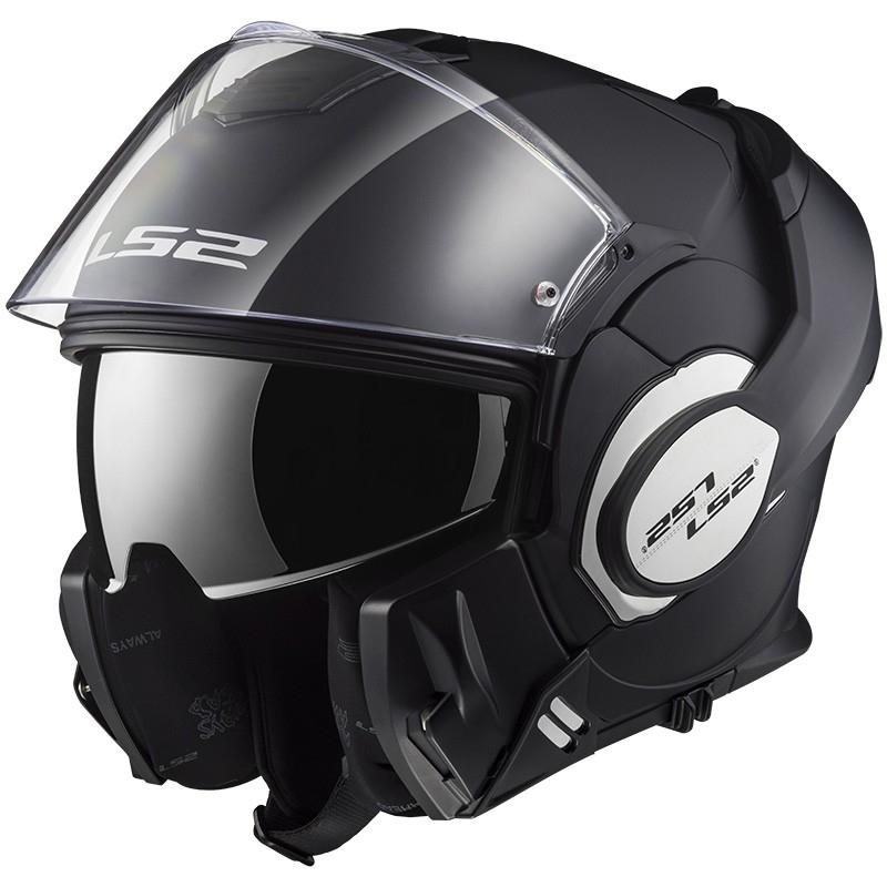 casque de moto de location LS2 valiant noir