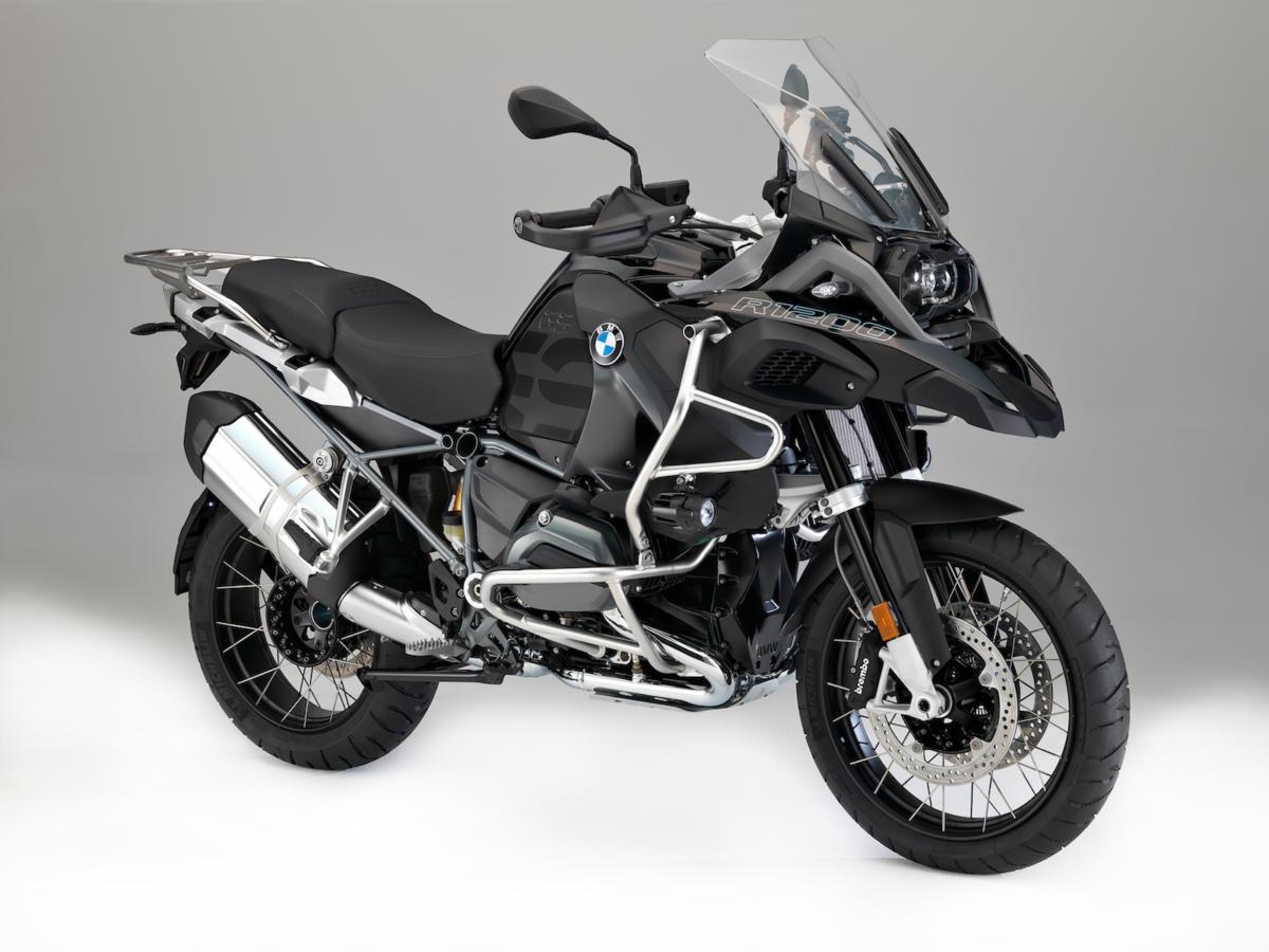 moto de location 1250GS BMW noire