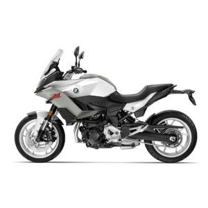 Une Bmw 900 xr en gris blanc