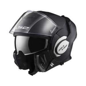 Un casque de moto ls2 valiant en noir