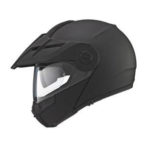 Un casco de moto schuberth e1 en negro